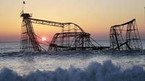 Roller coaster in the ocean  x