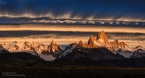 Rolling Clouds - Mount Fitz Roy Patagonia Argentina  photo by Greg Boratyn