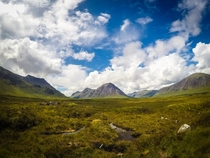 Rolling mountains of Glen Coe Argyll Scotland UK I was lucky enough to get this break in the rain