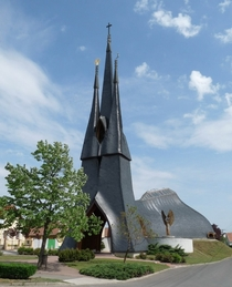 Roman Catholic Church Paks Hungary - Imre Makovecz  x