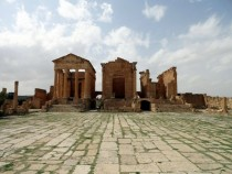 Roman temples for Jupiter Juno and Minerva in Sbeitla Tunisia