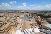 Rome From St Peters Basilicas Cupola Vatican City