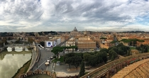 Rome Italy from atop the Castel SantAngelo
