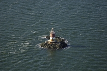 Romer Shoal Lighthouse off the coast of New Jersey and New York