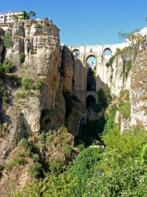 Ronda Spain - Village built on a split plateau with a very impressive crossing of the canyon