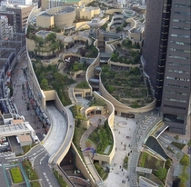 Roof Gardens at Namba Parks  Osaka photo by Amanda Peterson