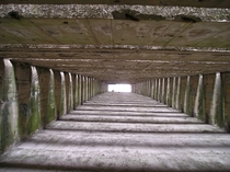 Roof of Nazi U-Boat bunker in St-Nazaire France