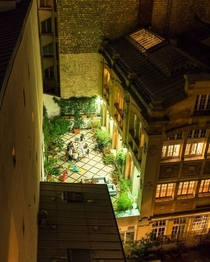 Rooftop terrace at the th arrondissement of Paris France