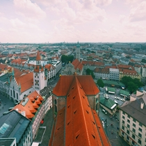 Rooftops of Munich from Saint Peters Church