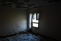Room in a massive abandoned Indiana Insane Asylum