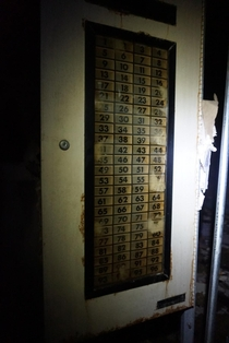 Room numbers in an abandoned hospital New Orleans sorry for low quality