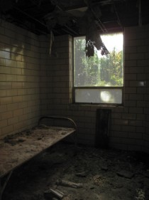Room with a view in the Northville Regional Psychiatric Hospital in Michigan
