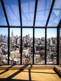 Room with an amazing view of Manhattan