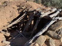 Root cellar abandoned in the early s on family land in Southern Utah Still filled with old jars of canned food