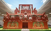Rosalila phase of temple  in Copan reconstruction built AD  by Tzi-Balam