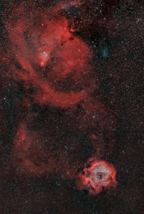 Rosette Nebula Wide field mm