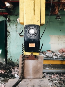 Rotary dial phone Abandoned army depot pt