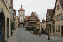 Rothenburg Ob Der Tauber Germany is a beautiful small Medieval village that dates back to
