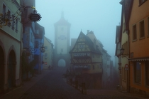 Rothenburg odt in Fog