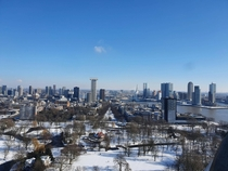 Rotterdam in the snow The Netherlands