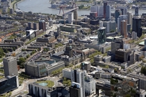 Rotterdam the Netherlands In the comments a picture of the bombardment of that area in  and the two photos next to each other