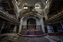 Rotting abandoned church in Detroit