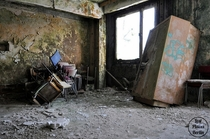 Rotting East German Military Classroom Berlin Germany