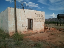 Route  Ruins - An abandoned watering hole in New Mexico complete with gunshot holes