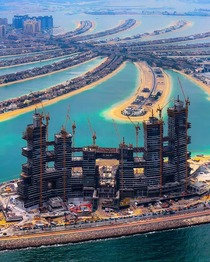 Royal Atlantis Resort under construction on the outer ring of the palm Jumeirah Dubai