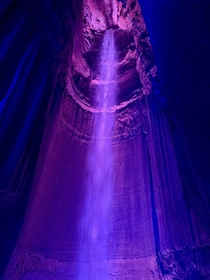 Ruby Falls in Chattanooga TN Please forgive the artificial lighting since its in a cave and would be unseeable otherwise