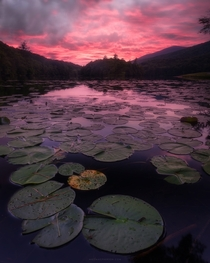 Ruby sky at Emerald Lake Vermont