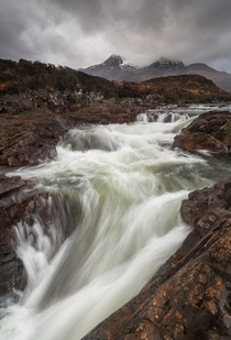 Rugged wild and rainy The Isle of Skye Scotland