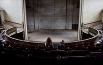Ruinin an otherwise gorgeous shot in an abandoned opera house Self-timer OC