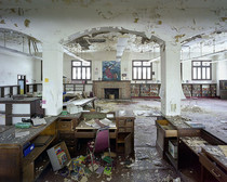 Ruins of a childrens library in Detroit Michigan