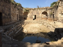 Ruins of Roman baths  meters from Israeli-Syrian border