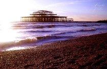 Ruins of the West Pier in Brighton UK