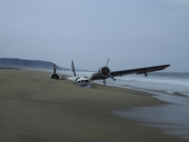 Rumored to be a drug plane crashed on a beach in Mexico