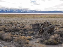 Run down shack near Mono Lake California