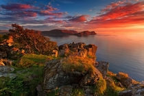Runde Burning Sunset - Runde Norway  photo by Alessandro Terzi
