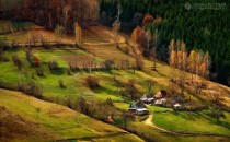 Rural homes in the Apuseni Mountains Romania