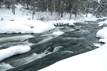 Rushing River Provincial Park in Winter