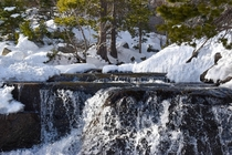 Rushing water by Emerald Bay in Lake Tahoe CA