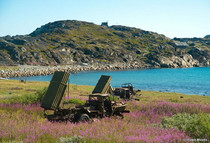 Russian BM- Soviet truck-mounted  mm multiple rocket launchers left on the seashore of Russia