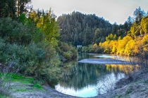 Russian River at Guerneville Sonoma County CA Normally at this time of year from this position I should about knee deep in water WE NEED RAIN