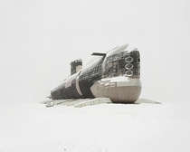 Russian submarine in the snow