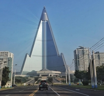 Ryugyong Hotel in North Korea is the tallest unoccupied building in the world