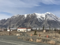 s era  Gas station back when they needed them every km On the shores of Kluane lake