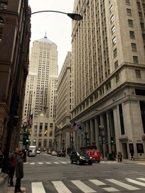 S LaSalle St Chicago IL This location has been used in many movies The Dark Knight truck flip over scene is one of the most recognizable