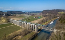 Saane viaduct in Switzerland
