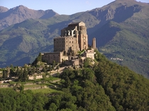 Sacra di San Michele  AD the biggest benedictine abbey in Piedmont Italy